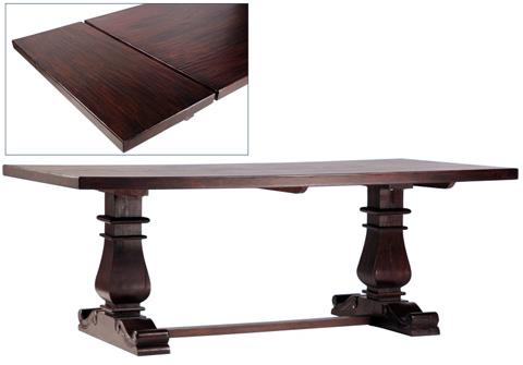 Dovetail Furniture - Lauren Dining Table with Extension - AF1980DE