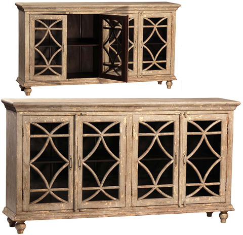 Dovetail Furniture - Bacca Four Door Sideboard - AJ139