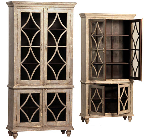 Dovetail Furniture - 4 Door 2 Part Cabinet - AK248