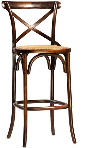 Dovetail Furniture - Antique Brown Gaston Barstool - DOV768BS