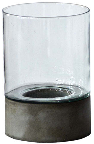 Dovetail Furniture - Set of 4 Glass Hurricanes with Base - DOV8715