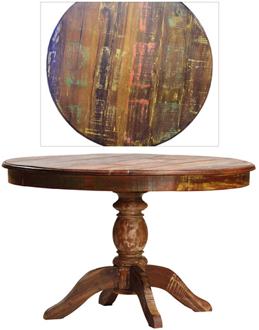 Dovetail Furniture - Nantucket Round Dining Table - NE348