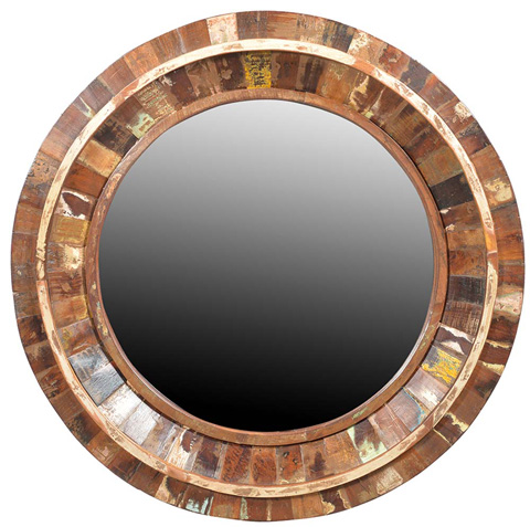 Dovetail Furniture - Nantucket Round Mirror Frame - RA5704