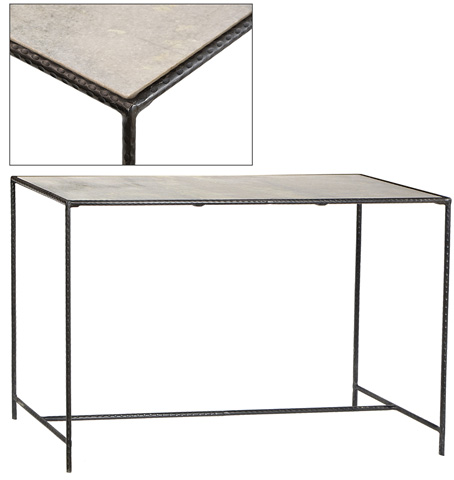 Dovetail Furniture - Iron With Marble Console Table - AN052