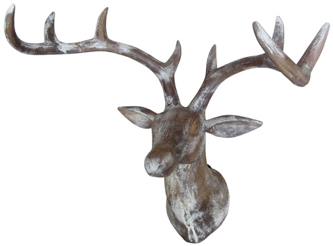 Dovetail Furniture - Wooden Deer Head - AN077