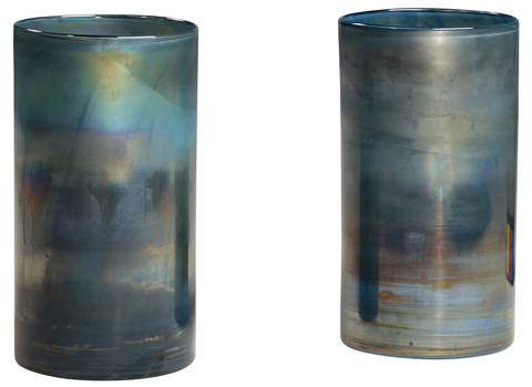 Dovetail Furniture - Glass Cylinder-Set Of 2 - DOV3477