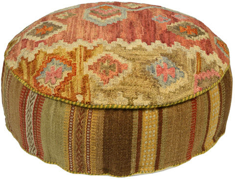 Dovetail Furniture - Garima Pouf - DOV8205