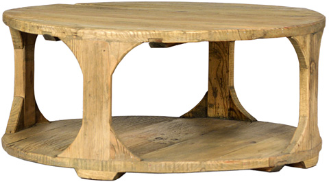 Dovetail Furniture - Round Coffee Table - DOV873