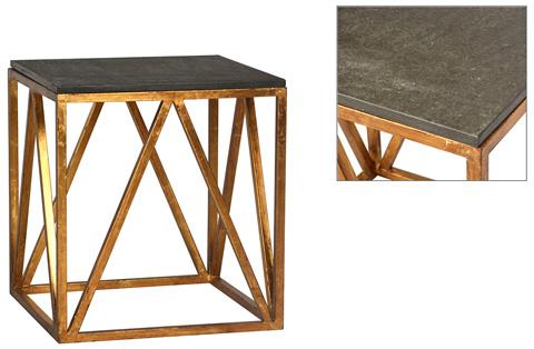 Dovetail Furniture - Albany End Table in Black - DOV2118