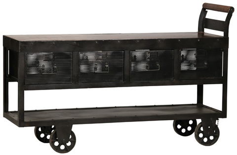 Dovetail Furniture - Hayes Trolley Console Table - NE516