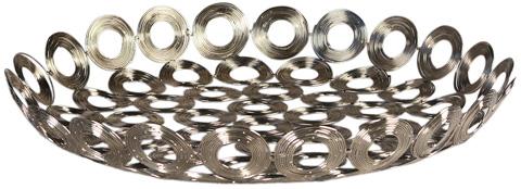 Dovetail Furniture - Silver Wire Disc Tray - DOV8611