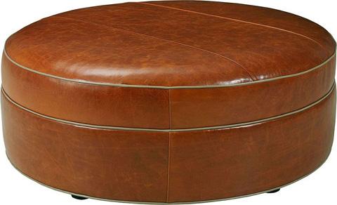 Drexel Heritage - O'Brien Round Leather Ottoman - L96-OT