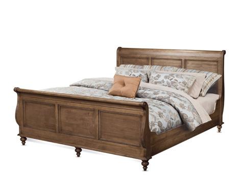 Durham Furniture Inc - King Sleigh Bed - 985-147