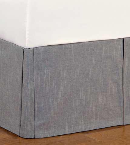 Eastern Accents - Duvall Slate Bed Skirt -King - SKK-371