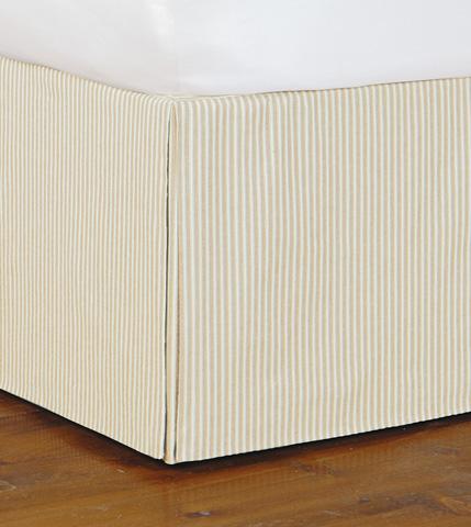 Eastern Accents - Heirloom Vanilla Skirt Pleated -King - SKK-242P