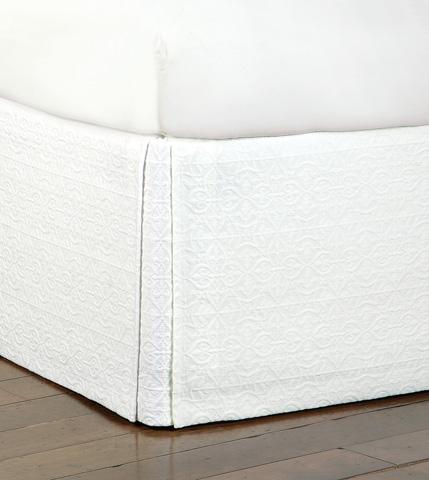 Eastern Accents - Mea White Bed Skirt -King - SKK-322