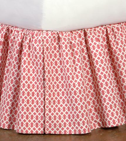 Eastern Accents - Pirouette Pink Skirt -King - SKK-299