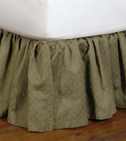 Eastern Accents - Quentin Olive Skirt -King - SKK-130