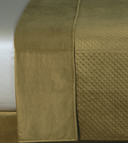 Eastern Accents - Reuss Olive Coverlet -King - CVK-154