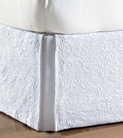 Eastern Accents - Sandrine White Bed Skirt -King - SKK-327