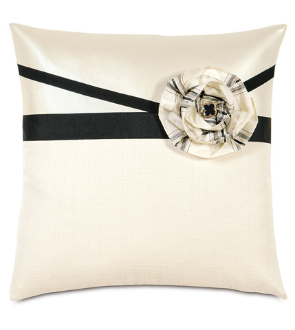 Eastern Accents - Klein Shell With Flower Throw Pillow - ABR-02