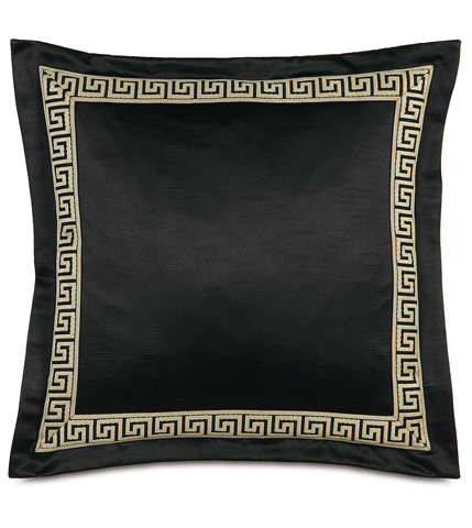 Eastern Accents - Witcoff Black Pillow With Border - ABR-03