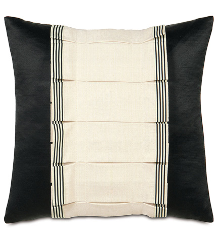 Eastern Accents - Folly Parchment Tuxedo Ruffle Pillow - ABR-05