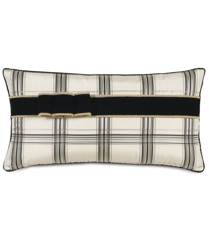 Eastern Accents - Beckett Ink Pillow With Ribbon - ABR-10