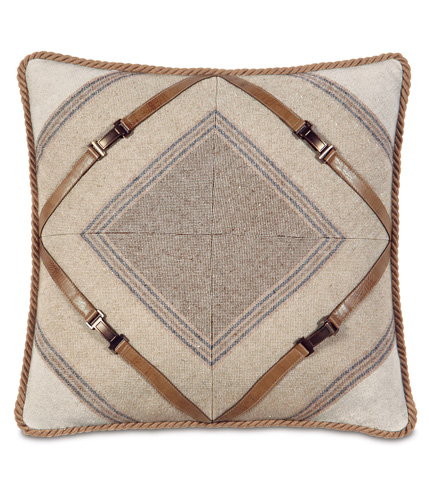 Eastern Accents - Ashbrooke Wheat Mitered Pillow - AID-06