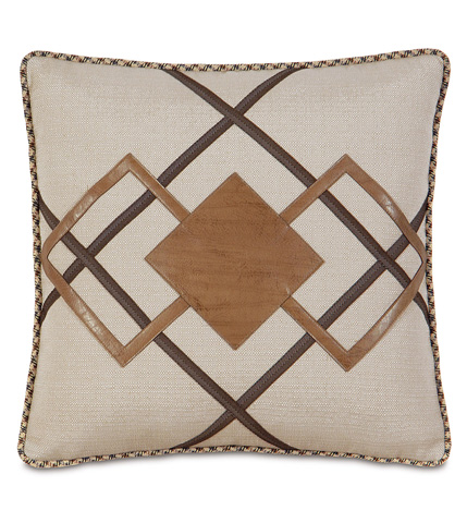 Eastern Accents - Dorian Saddle Diamond Inserts Pillow - AID-07
