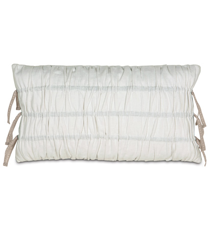 Eastern Accents - Breeze White Ruched Pillow - AIL-04