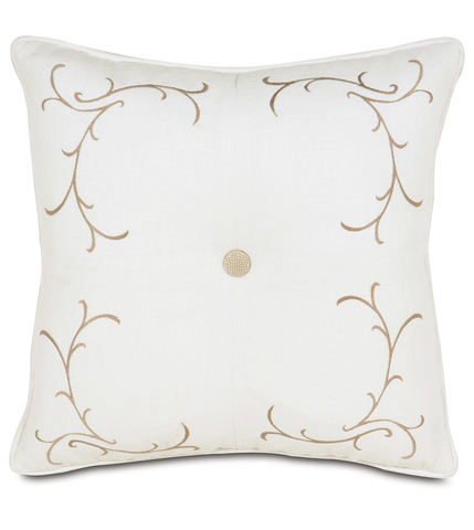 Eastern Accents - Breeze White Tufted Embroidered Pillow - AIL-12