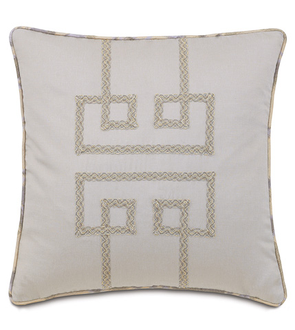 Eastern Accents - Mack Heather Pillow with Geometric Design - AMA-04