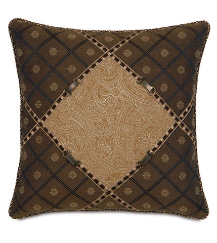 Eastern Accents - Leinster Caramel Diamond Pillow - AST-02