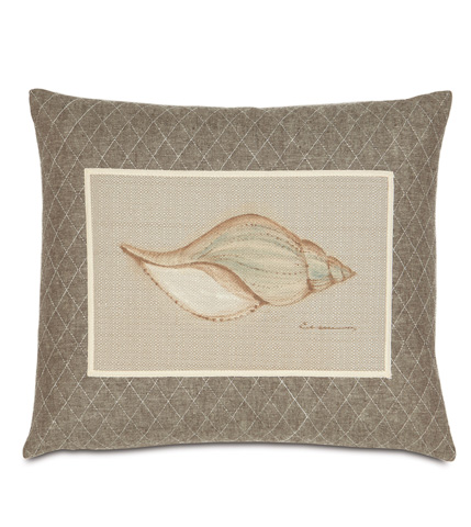 Eastern Accents - Hand-Painted Shell Pillow - AVI-11
