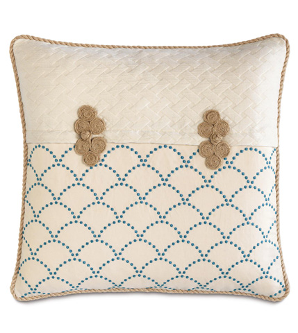 Eastern Accents - Brooklyn Lapis Pillow with Frogs - BDU-03