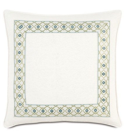 Eastern Accents - Filly White  Pillow with Mitered Border - BRS-07