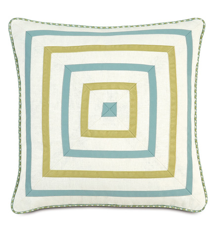 Eastern Accents - Filly White Mitered Pillow - BRS-10