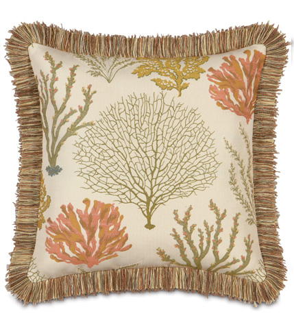 Eastern Accents - Caicos Pillow with Brush Fringe - CAC-05