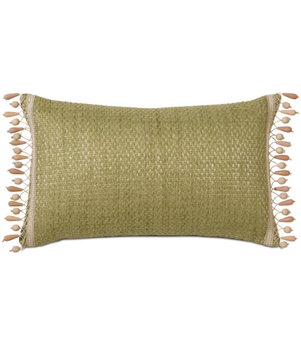 Eastern Accents - Wades Green Pillow with Beaded Trim - CAC-08