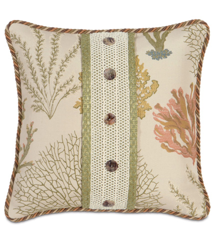 Eastern Accents - Caicos Pillow with Buttons - CAC-09