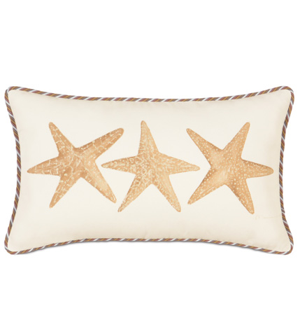 Eastern Accents - Hand-Painted Starfish Pillow - CAC-10