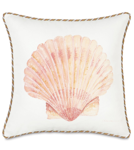 Eastern Accents - Hand-Painted Scallop Shell Pillow - CAC-11