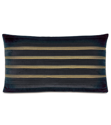 Eastern Accents - Jackson Charcoal  Pillow with Pleats - CAL-12