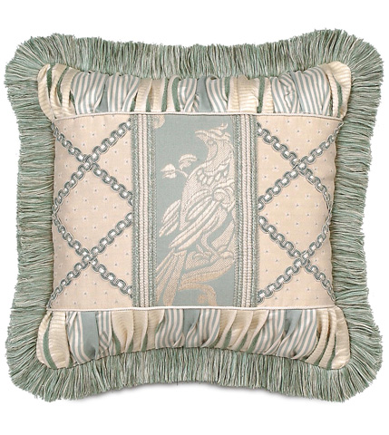 Eastern Accents - Carlyle Collage Pillow with Brush Fringe - CRL-07