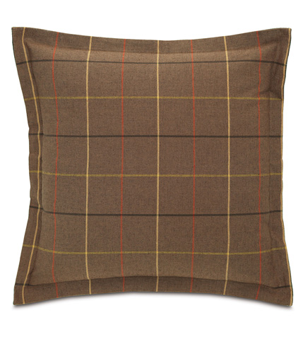 Eastern Accents - Donoghue Brown Pillow with Flange - DPA-361-C