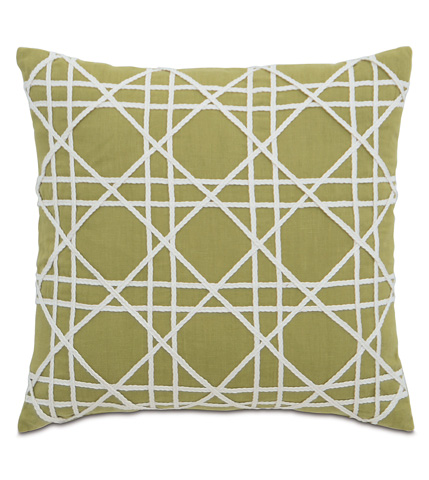 Eastern Accents - Breeze Palm Pillow with Caning - DPA-389-G