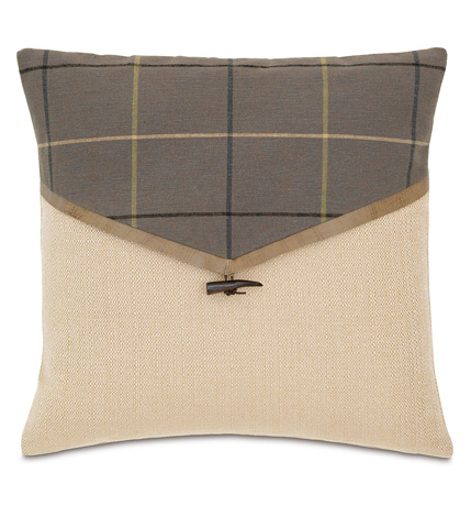 Eastern Accents - Donoghue Slate Envelope Pillow - DPB-361-A