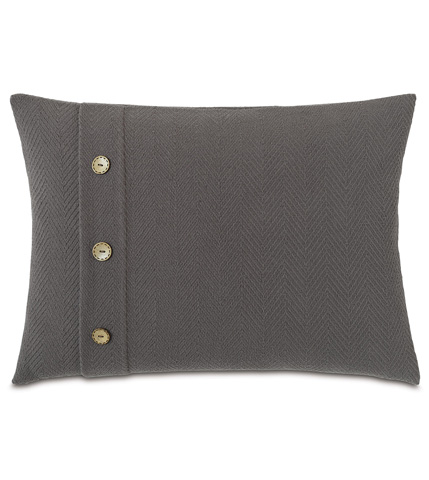 Eastern Accents - Bozeman Charcoal Pillow with Buttons - DPC-361-F