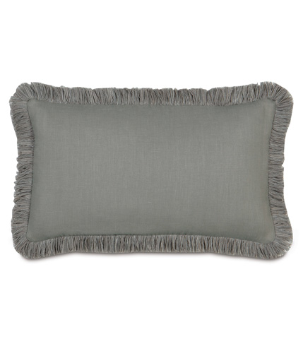Eastern Accents - Breeze Slate Pillow with Brush Fringe - DPD-304